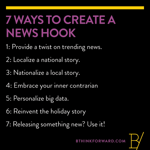 7 Ways to Create a News Hook