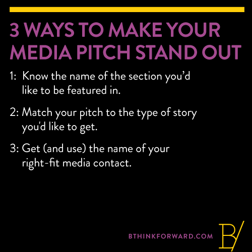 3 ways to make your media pitch stand out