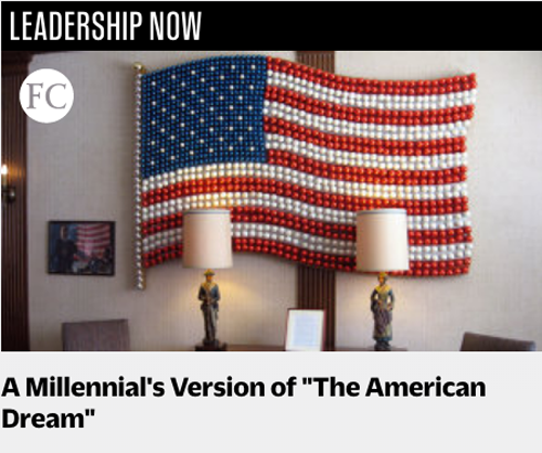 A Millenial Version of the American Dream by Tara Gentile For Fast Company