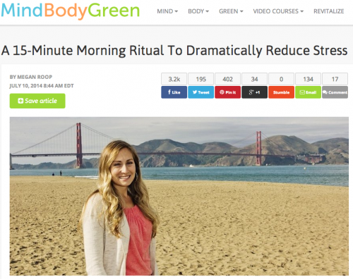 Megan Roop on MindBodyGreen