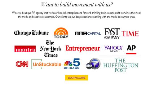 media logos build trust