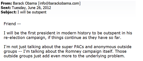 This was the Obama campaign's top-performing email. It raised $2.6 million.