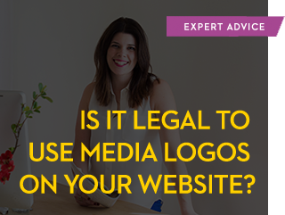 Is it legal to use media logos on your website?